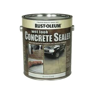 Garage Floor Sealer: Rust-Oleum Gal Nat Stain/Sealer 239417 Masonry/Concrete Stain
