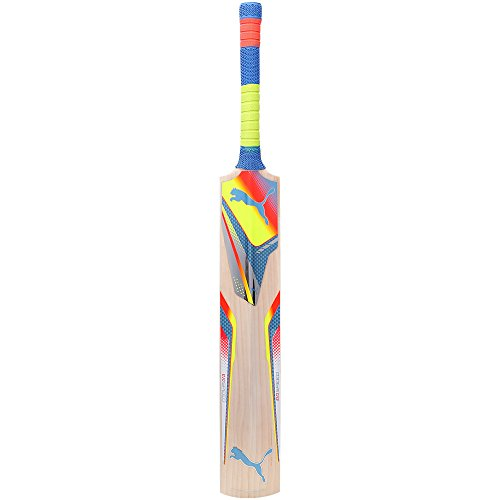 Puma Puma Evospeed 5000 14 Long Blade Cricket Bat, Men's (Sharks Blue\/Fluro Peach\/Fluro Yellow) (Orange)