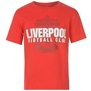 Source Lab Liverpool Fc Graphic T Shirt Junior Red 10-11 Lb