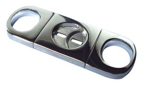 Prestige Import Group Silver Chrome Plate Double Blade Cigar Cutter
