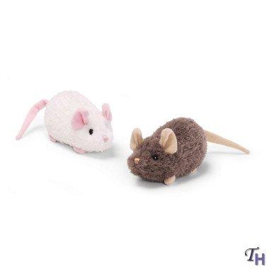 """Gund Creepers Mice Zip Alongs 5"""" Brown"""