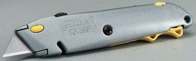 """Stanley Retractable Utility Knife Quick Change 6"""" Carded"""