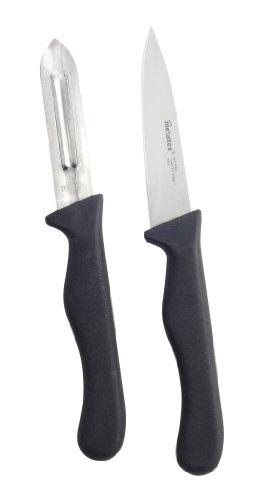 Metaltex 258131 Basic Set Couteau de Cuisine/Econome Acier Inoxydable Multicolore 25 x 15 x 5 cm