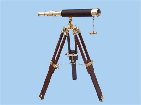 Floor Standing Harbor Master Decorative Telescope Finish: Brass