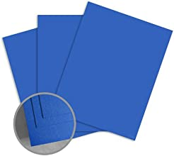 ColorMates Smooth amp Silky Prussian Blue Card Stock - 12 x 12 in 90 lb Cover Smooth 25 per Package