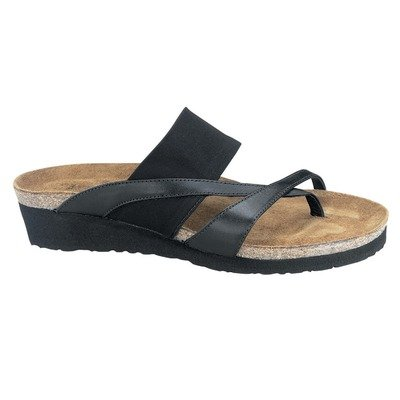 Women's Naot TAYLOR Thong Sandals BLACK 38 M EU, 7 M