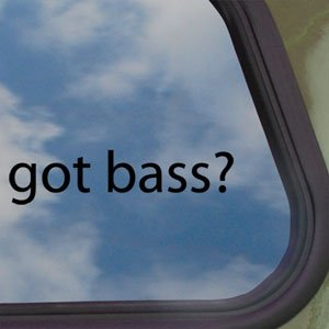 Got Bass? Black Decal Fender Guitar Truck Window Sticker