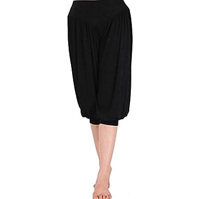 LIANTANG Womens Soft Loose Elastic Waistband Fitness Yoga Pants Size