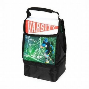 Artic Zone Varsity Football Soft Lunch Box Insulated Bag 2 Compartment Lunchbox