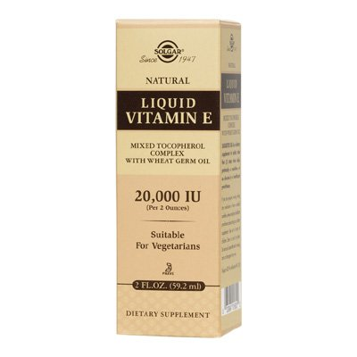 Solgar Natural Liquid Vitamin E 2oz 59.2ml Liquid
