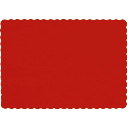 Amscan Big Pack Placemats Apple Red Paper 50/pkg