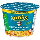 Annie's Homegrown - Rice Pasta & Cheddar Gluten Free Microwavable Mac and Cheese Cup (100% Real Cheese), Buy TWELVE and SAVE, Each Cup is 2 oz (Pack of 12)