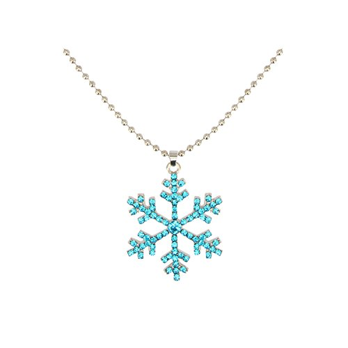 Accessorisingg Disney Princess Elsa Blue Snow Flake Pendant For Girls[PD055]
