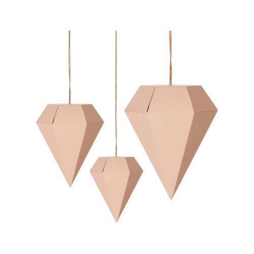 ferm Living Paper Diamonds rose 3er Set Art.24112