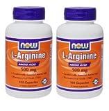 【2個セット】 [海外直送品] NOW FoodsLアルギニン 500mg(海外直送品) [ヘルスケア&ケア用品]L-Arginine 500mg