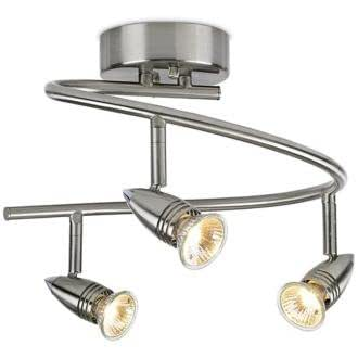 LED or Halogen Pro Track Three Light Spiral Ceiling Light ...