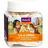 Halo Liv-a-Littles Natural Treats for Dogs and Cats, Freeze-Dried Chicken Breast Protein, 2.2-Ounce