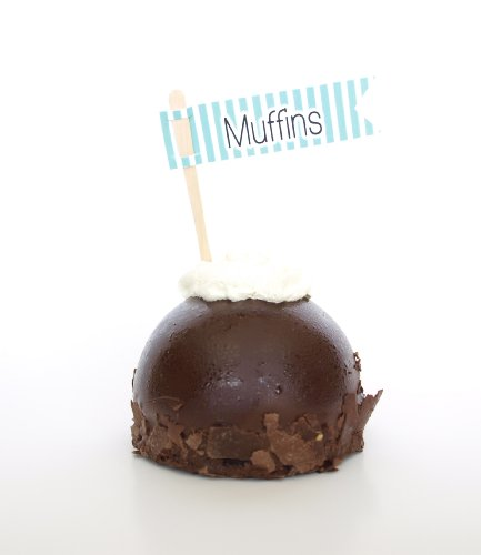 """Muffins"" Flavor Banners, Teal (Set Of 12) - Top Your Handmade Treat Or Snack With Shimmer front-811640"
