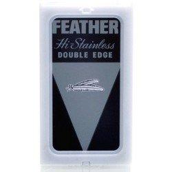 10 Feather Razor Blades NEW Hi stainless Double Edge