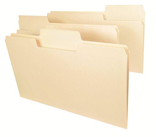 Smead SuperTab® File Folder, Oversized 1/3-Cut Tab, Legal Size, Manila, 100 Per Box (15301)