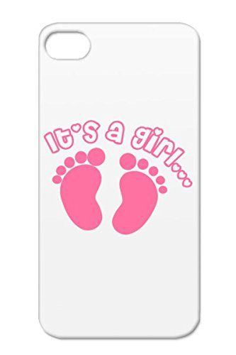 Tpu Pink Arriving Soon Adorable Maternity Clothes Pregnancy Foot Prints Baby Family Cute Baby Announcement Shower Pregnant Expecting Its A Girl Cover Case For Iphone 4 front-12606