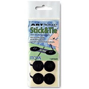 STICK & TIE - Stick-On String Fasteners sold in 2's