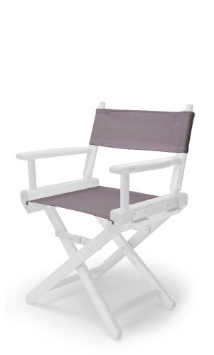 Telescope Casual Child's Director Chair, Grey with White Frame