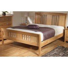 new oak sleigh super king size bed frame only light wood kitchen home. Black Bedroom Furniture Sets. Home Design Ideas