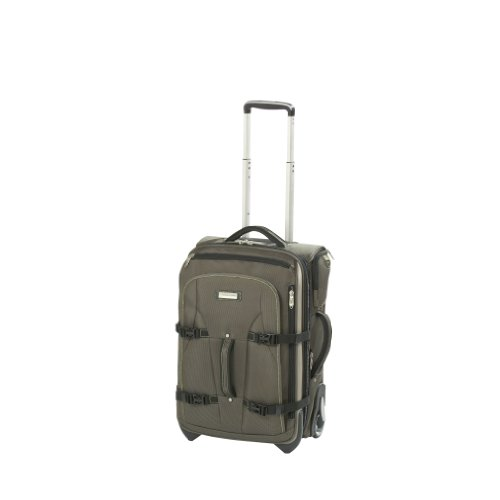 National Geographic Luggage Northwall Expandable Rollaboard, Green/Tan, One Size B0092PNKCY