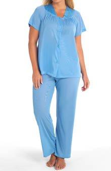 90107 M Purity Blue Vanity Fair Classic Travel Pajama