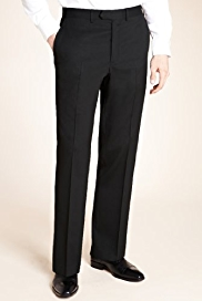 Autograph Supercrease™ Flat Front Trousers with Wool