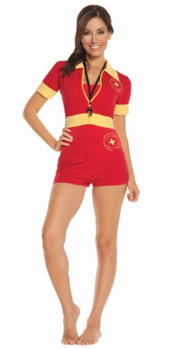 Sexy Beach Patrol Costume, Red - Unofficial Outfit