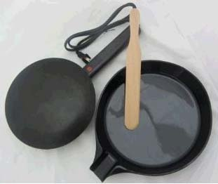 Electric Crepe Maker with Spatula and Batter Pan