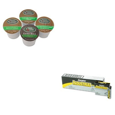 Kiteveen91Gmt6502Ct - Value Kit - Green Mountain Coffee Roasters Flavored Variety Coffee K-Cups (Gmt6502Ct) And Energizer Industrial Alkaline Batteries (Eveen91)
