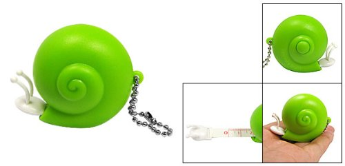 Amico 40 Inch Snail Retractable Ruler Measuring Tape Green