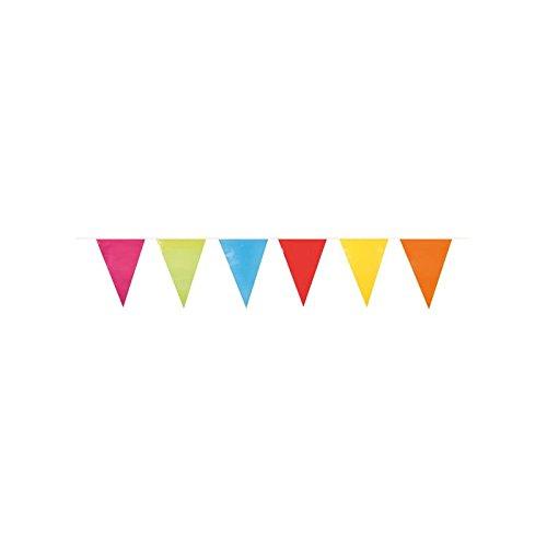 Anniversaire Kermesse - Guirlande de Décoration - Géante et Multicolore - Fanions Plastifiés - 10 mètres