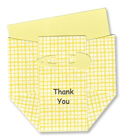 Yellow Plaid Diaper Thank-you Cards - Set of 10