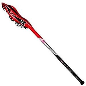 Harrow Advance Hemi Cuda Strung Lacrosse Stick (1-Piece), 37-Inch, Red by Harrow