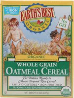 Earth's Best Certified Organic Whole Grain Oatmeal 