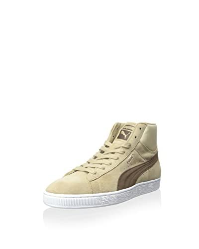 PUMA Men's Suede Mid Classic Natural Calm 2 Hightop Sneaker