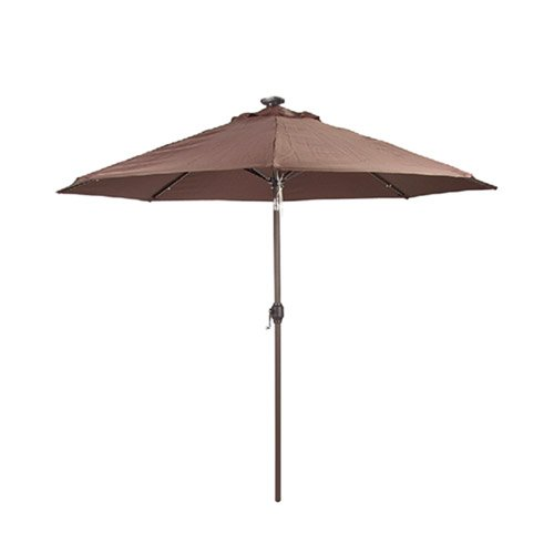 Led Umbrella Amazon: Sunergy 50140730 9' Solar Powered Patio Umbrella W 16 LED