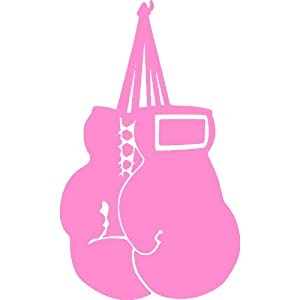 Amazon Com Boxing Gloves Soft Pink Vinyl Window Decal