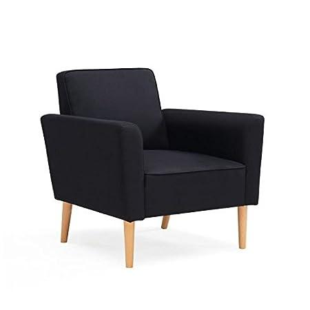 WESTWOOD Fauteuil style scandinave en tissu noir