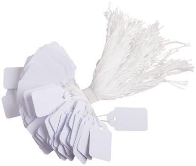 AGIPA Boite de 500 étiquettes bijouterie à fil 22 x 35 mm Blanc