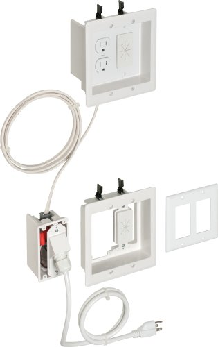 Arlington TVBRA2K-1 In-Wall Wiring Kit, Pre-Wired TV Bridge, 2-Gang Boxes, White, 1-Pack (Flat Panel Tv Cable Organizer compare prices)