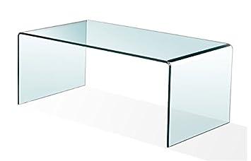 HOGAR DECORA - Mesa de centro cristal curvado 100x48 cm BURANO