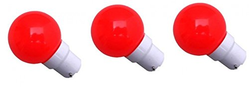 0.5 W LED Light Bulbs Red (Set of 3)