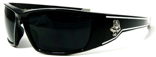 Locs Sunglasses Black Out Lenses Black White Stripes Gangster Hardcore Shades 4181A
