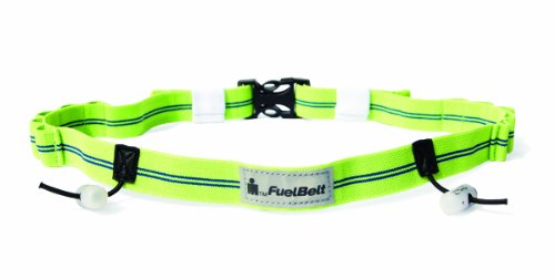 FuelBelt Ironman Collection Gel Ready Race Number Belt, Blue/Green, One Size