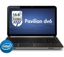 HP Pavilion dv6t QE Laptop - Windows 7 Home Premium, Intel i7-2670QM 2.2 GHz, 8GB Memory, 750GB HD, 2GB RADEON 6770M Graphics, Blu-ray, 15.6 Greatest HD, Bluetooth